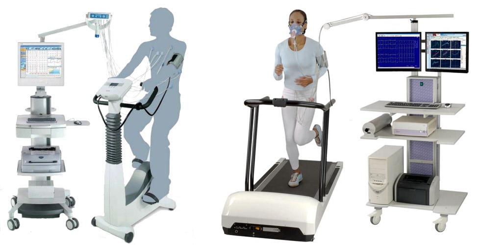 виды стресс-ЭКГ: с велотренажером и беговой дорожкой